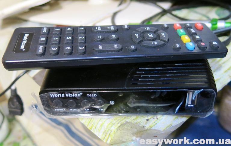 Т2 ресивер World Vision T26D