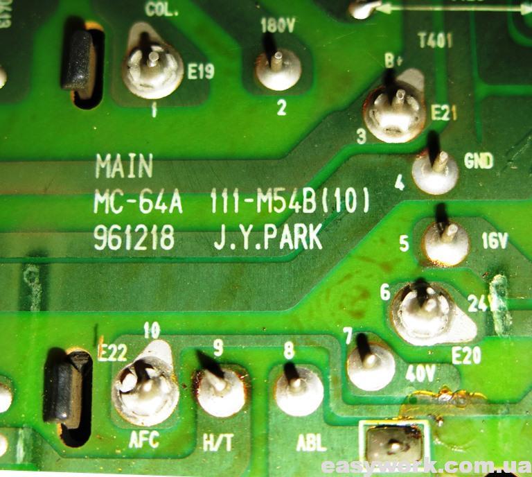 Маркировка шасси MC-64A