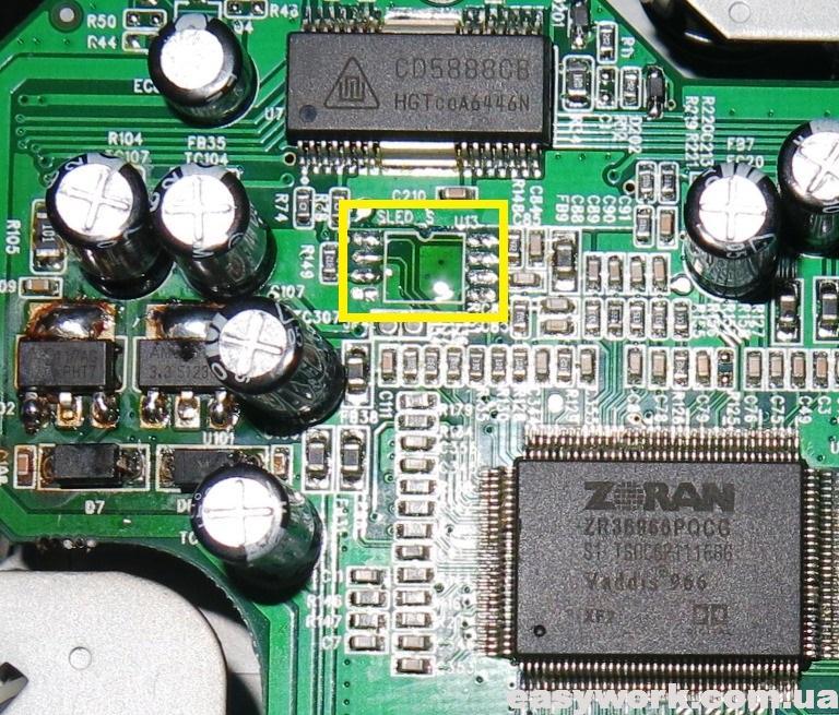 Демонтированная флеш-память