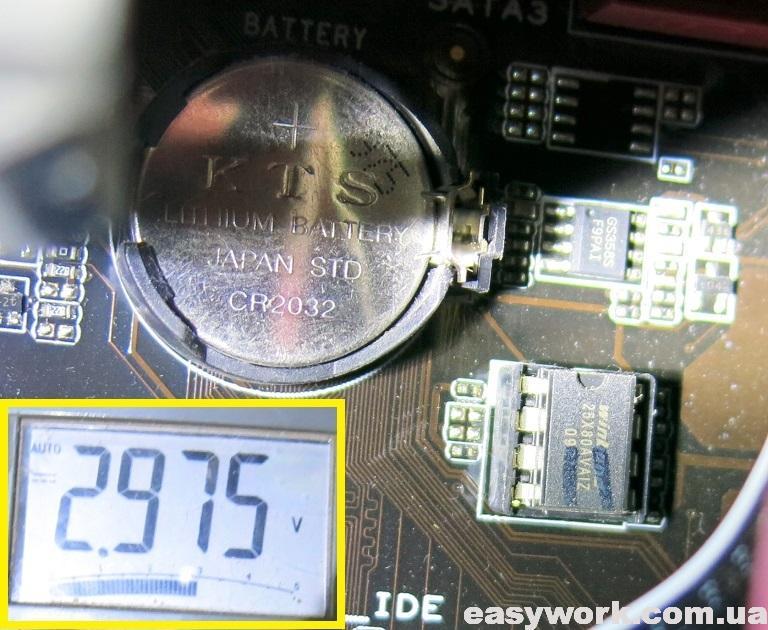 Напряжение батарейки