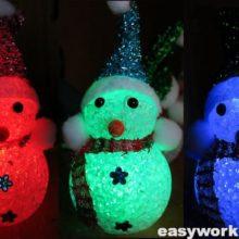 Ремонт новогоднего сувенира «Снеговик»
