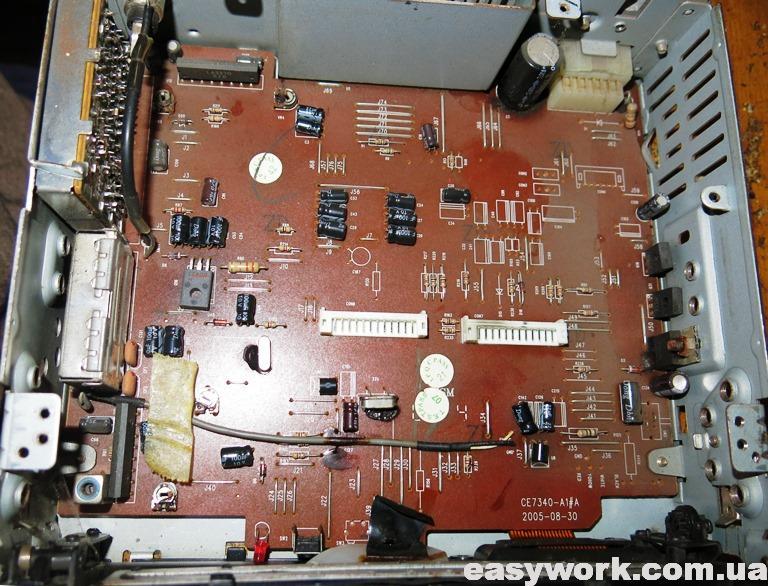 Внутреннее устройство магнитолы SITRONICS CMR504