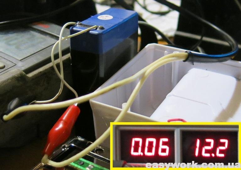 Зарядка аккумулятора от внешнего БП