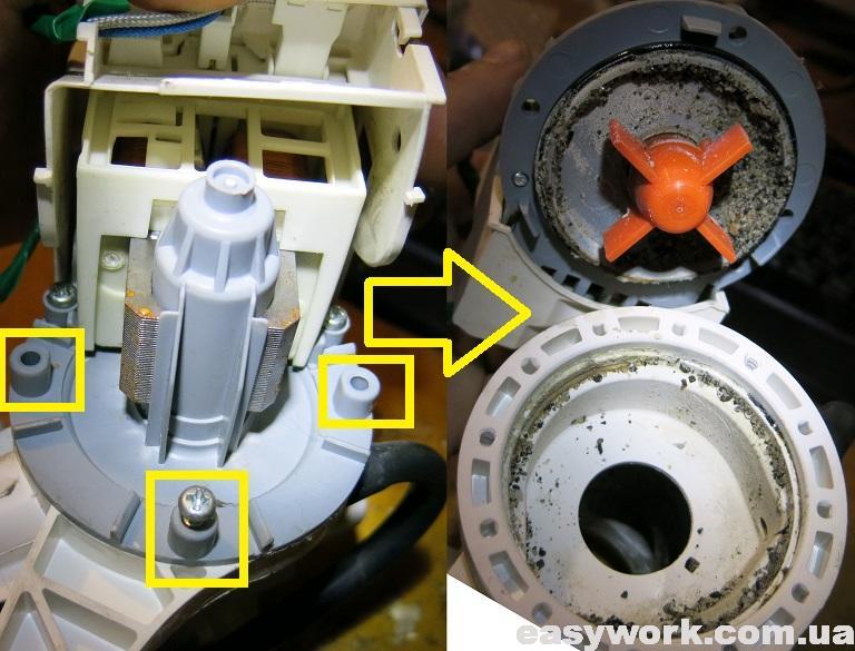 Снятие электродвигателей