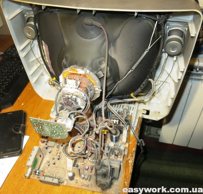 Внутреннее устройство телевизора DAEWOO KR14U1T