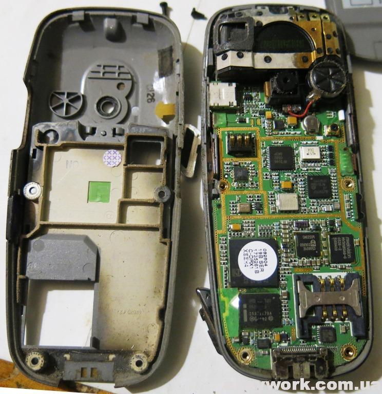 Внутреннее устройство телефона SAMSUNG X620 (фото 1)