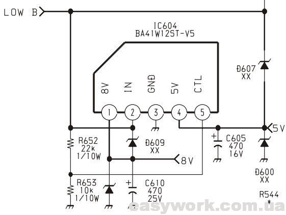 Микросхема IC604 BA41W12ST-V5