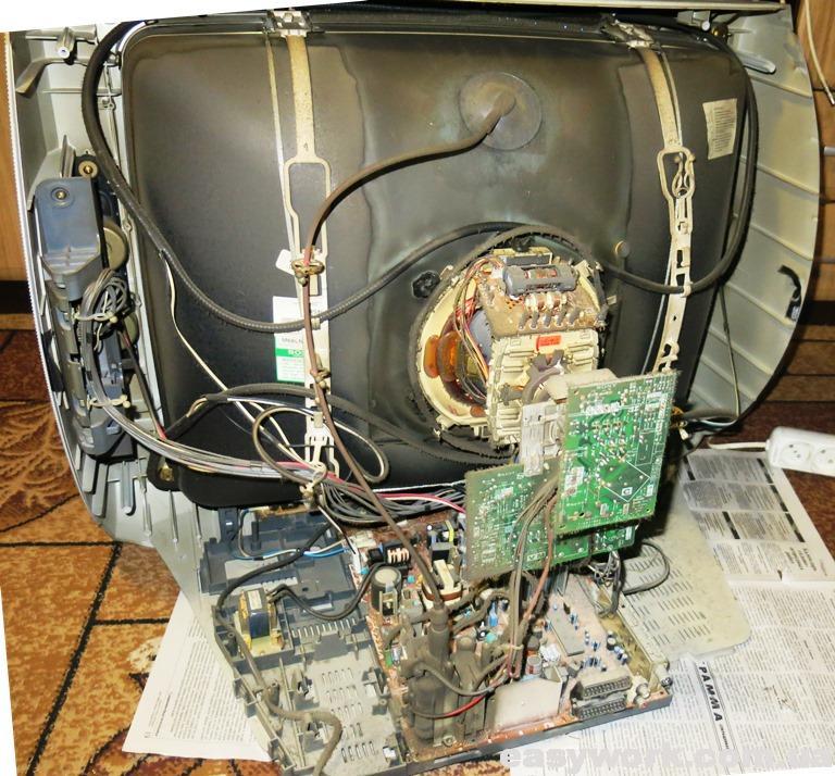 Внутреннее устройство телевизора SONY KV-29LS35K