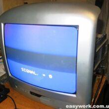 Ремонт телевизора THOMSON 14MK140G (не включается)