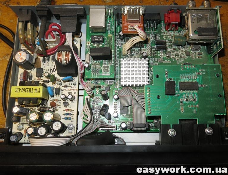 Внутреннее устройство ресивера GI S8120