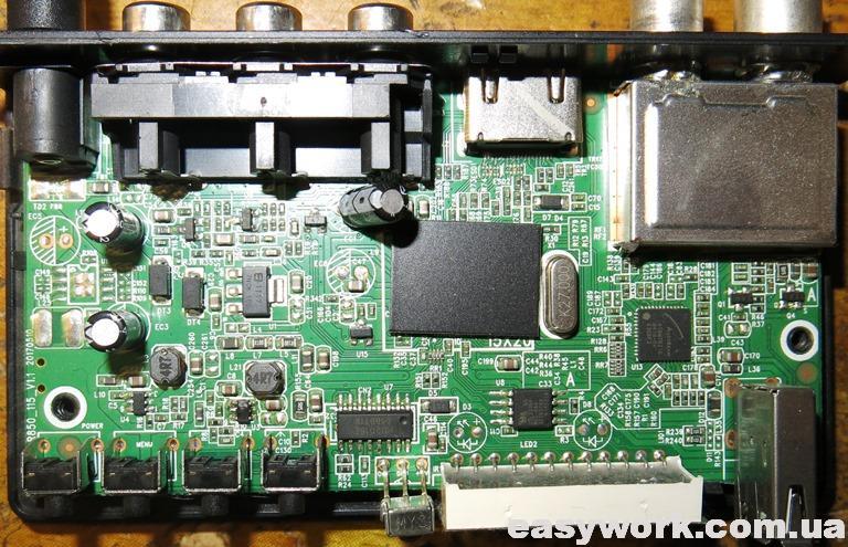 Внутреннее устройство ресивера EUROSKY ES-15