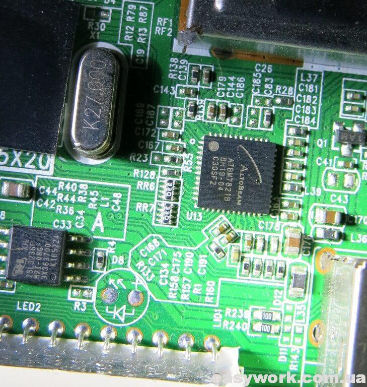 Нагрев микросхемы демодулятора ATBM7821B