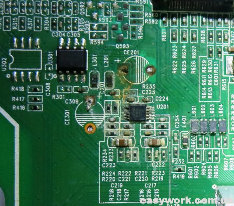 Демонтаж конденсаторов