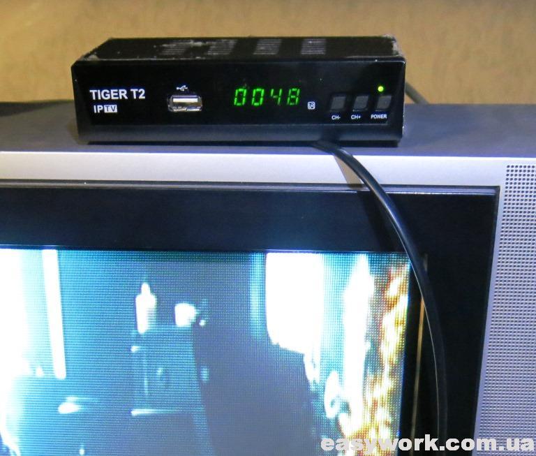 Отремонтированный тюнер TIGER T2 IPTV