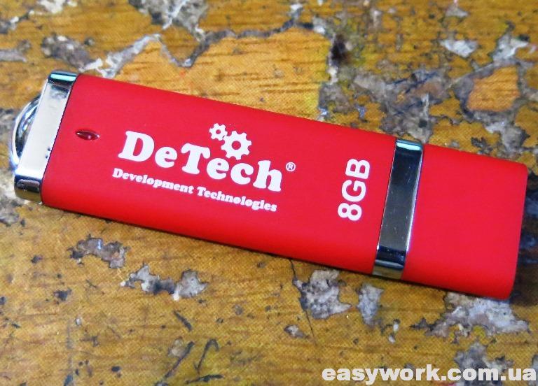 Флешка DeTech 8 GB