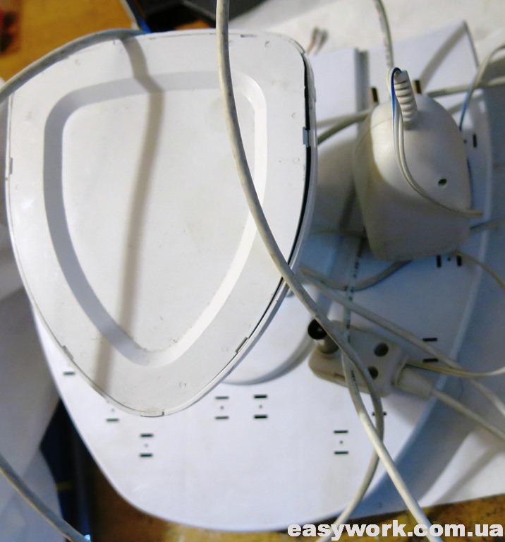 Вид на антенну с обратной стороны