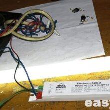 Ремонт электронного балласта GZD-T8 1X 18-20W X2