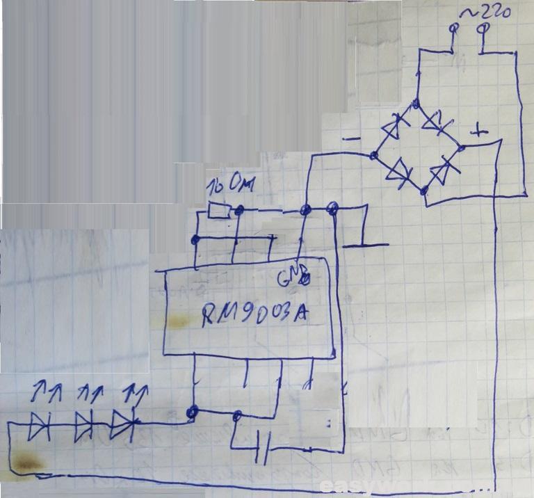 Принципиальная схема светодиодной ленты