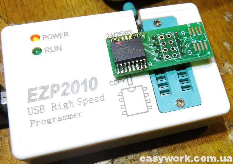 Программирование флеш-памяти в EZP-2010