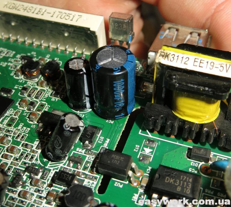 Замененный конденсатор