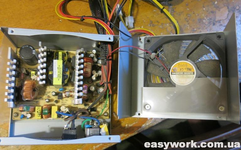 Внутреннее устройство блока питания HIGH POWER HPC-450-H12S