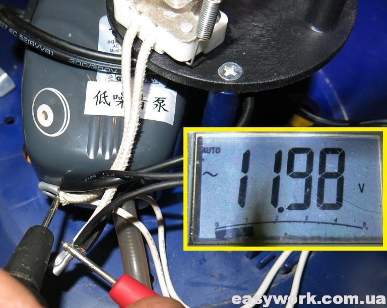Напряжение на компрессоре