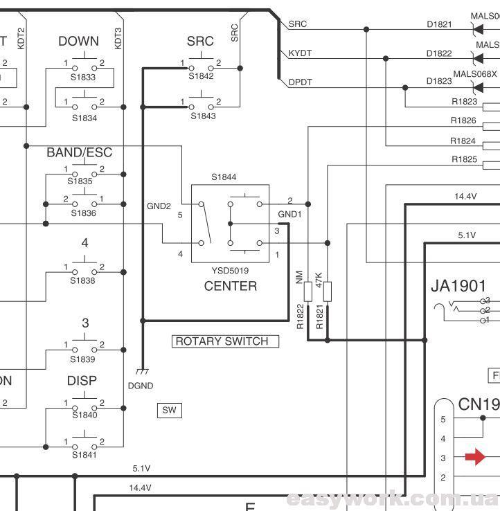 Схема включения энкодера