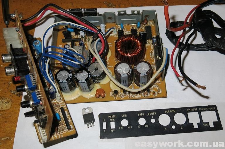 Плата сабвуфера Pioneer TS-WX65A