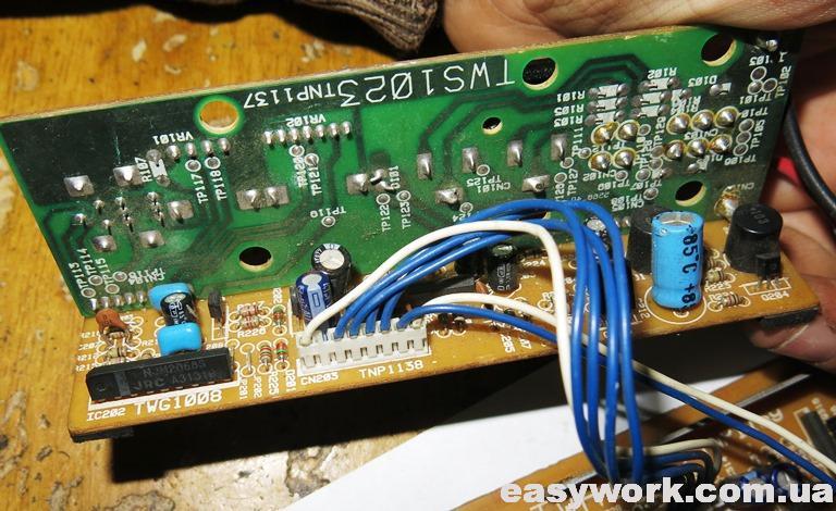 Внешний вид платы сабвуфера Pioneer TS-WX65A