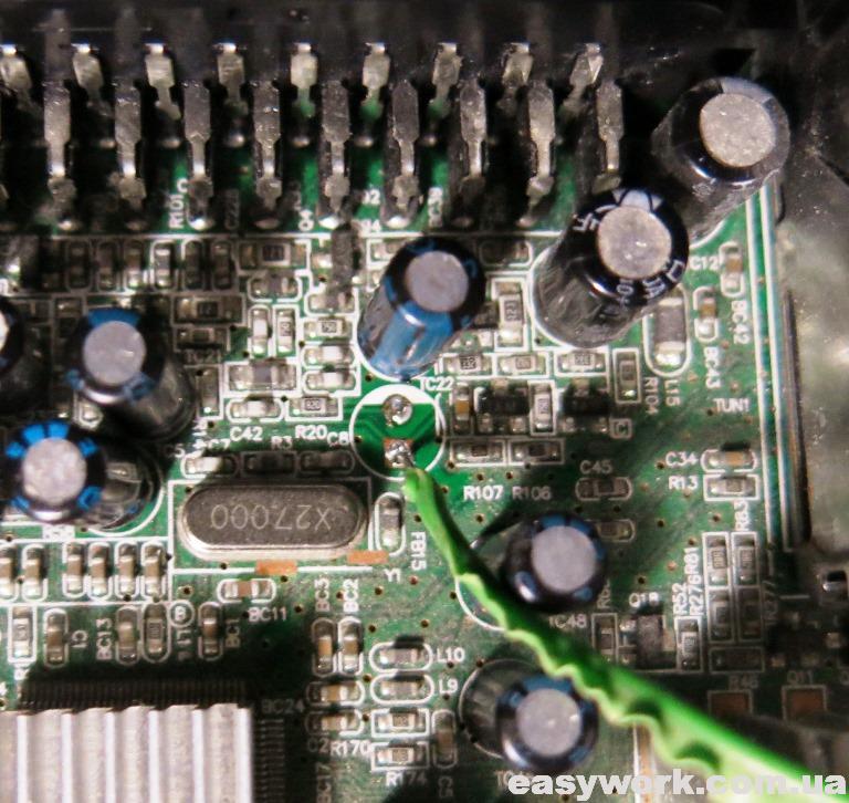 Видеовыход на REDSAT 4100C