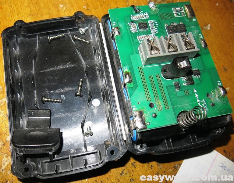 Разборка аккумулятора