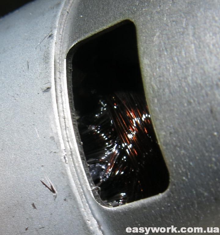 Сгоревшие обмотки двигателя