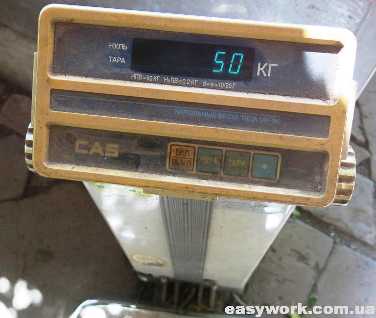 Отремонтированные весы CAS DB-60H