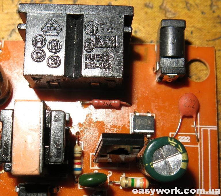 Вышедший из строя резистор 2,2 Ом
